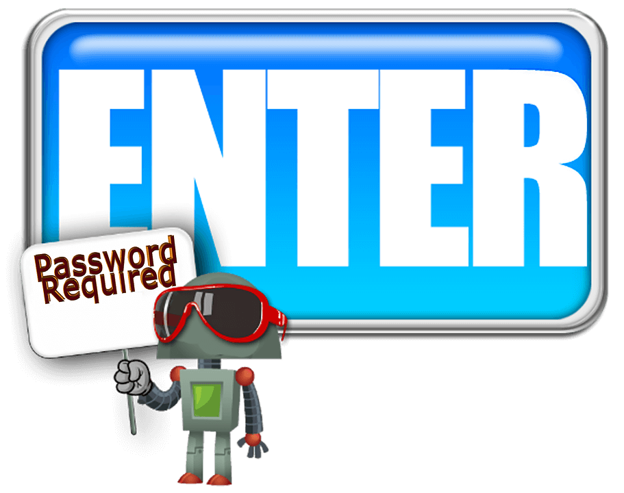password required to enter