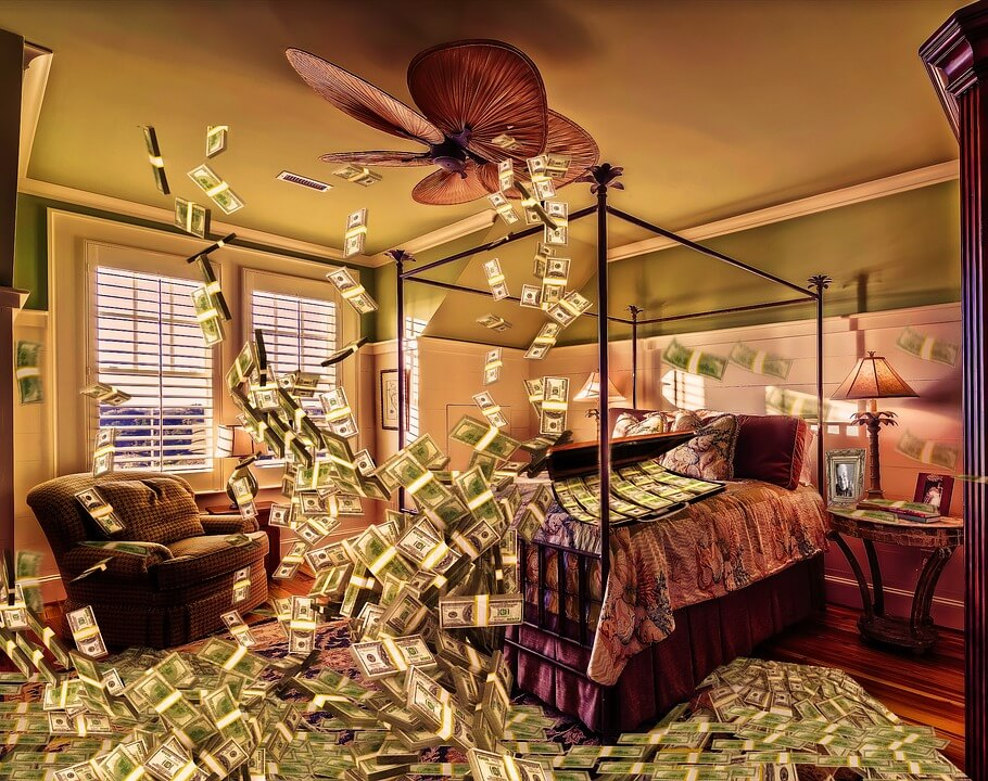 room full of money